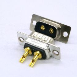 10A 2W2の高密度2の位置のコネクターに乗るD-SUBによって混合される接触ワイヤー