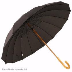 カスタマイズされた黒い木シャフトのイギリスのまっすぐな傘
