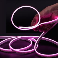 24V 소형 분홍색 색깔 RGB 4mm 폭은 코드 네온 선형 옥외 LED 지구 빛을 방수 처리한다