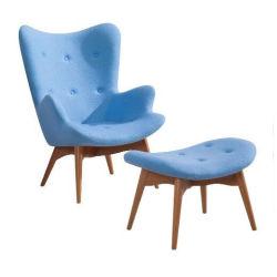Meados do século XIX mobiliário moderno Cashmere Conceder Featherston R160 Contour Espreguiçadeira e Otomano