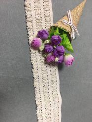 高品質の新しいデザインHometextiles Fのための自然な綿のかぎ針編みのレース