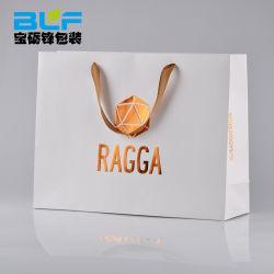 Saco de compras de luxo papel Personalizado Sacola de Compras/saco de papel para o vestuário