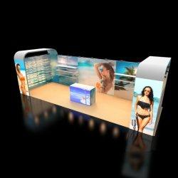 10X20FT pano de alumínio Showcase Portable exposições de moda Design de suporte