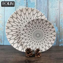 En porcelaine blanche de l'autocollant de plaque plaque en céramique pour Accueil Restaurant utiliser