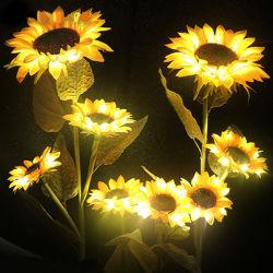 Multi-LED de couleur des fleurs artificielles de tournesol feux à LED