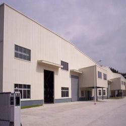 China Custom Grandes Span Metal Leve Prefab Construção da estrutura a estrutura de aço do Workshop de design de armazém