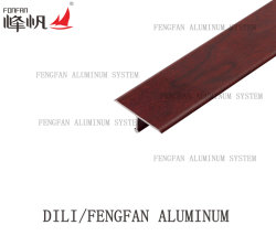 Perfil de suelo de forma de T de aluminio