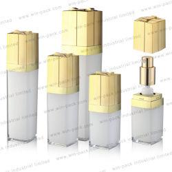 Косметический Ecofrendly фантазии стильные квадратные молоко Белой акриловой косметический роскошный лосьон для тела бачок установить уплотнение 30ml 100 мл