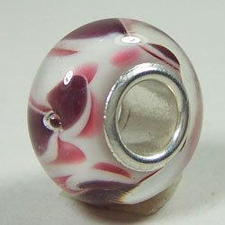 Цельная твердая стеклянная бусина сердечника стерлингового серебра Handmade