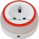 Jm0127A-Ht-Gzbl02 Adaptador personalizado com luz nocturna, com 3 LEDs e Sensor de noite ligado/desligado/Interruptor Auto