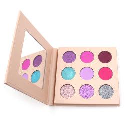 Высокое качество Private Label 9 Пользовательские цвета Eyeshadow палитра теней для макияжа
