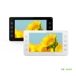 Teléfono IP de Video Portero Portero con toque el botón Home Sistema de automatización de la seguridad de inicio