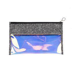 PU Handbag Cosmetic Coin Purse防水レーザーPVC女性ペン袋の昇進のサングラスのクラッチの女性札入れのジッパーの記憶の袋袋