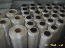 500cm x 1000m weiße elastische Ladeplatten-Filetarbeit für Verpackung