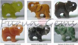 ElephantOWO di scultura di pietra HSemi-Prezioso parte il pistone (VG1540030004)