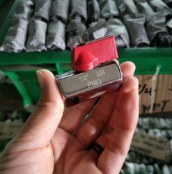 M/F FF оцинкованные латунь ручной мини-шарового клапана с красной рукоятки