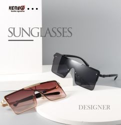 Óculos Kenbo 2021 novas chegadas tons sobredimensionado óculos de Estrutura Grande estilo de moda Cool óculos de sol unissexo
