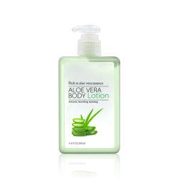 O OEM Aloe Vera Essência Loção Corporal Anti Acne alimentando a hidratação com loção corporal de branqueamento da pele
