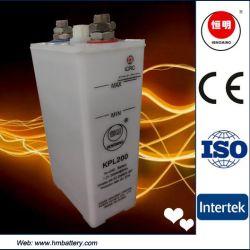 太陽企業の再充電可能で深いサイクルKpl200のNICD小型の蓄電池の非常灯力のバックアップ発電所電池