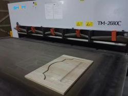 الخشب البندقية الغشاء مكنسة كهربائية آلة الصحافة للباب الخشبي