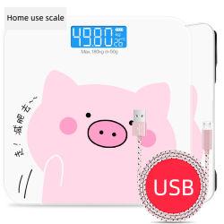 Écran HD de petite échelle de pesage électronique numérique- LED cochon en PP