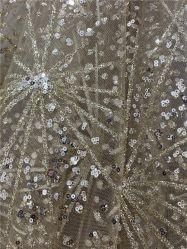 Saupoudrer de l'or en poudre polyester collés Jersey tissu brillant Garment /Nightwear/chaussures sacs/décorent /