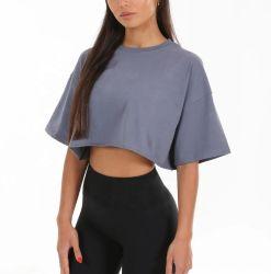 De nieuwe T-shirts van de Gymnastiek van het Gewas van de Geschiktheid van de Vrouwen van de Koker van Streetwear van het Ontwerp Korte