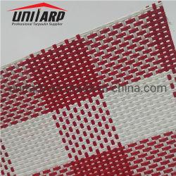 UV Résistance à la déchirure enduit de PVC nominale imprimé tissu à mailles pour tapis de cheval