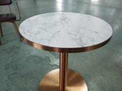 Mesas de tampo de Mesa em Madeira com móveis comerciais em mármore com mesas de Restaurante Peças