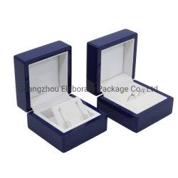 小型の光沢の終わりMDFの吊り下げ式のネックレスのリングのための木のショーケースの表示ギフト用の箱のJewellryの荷箱