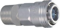 Aço Compressor de ar pneumática Acopladores Rápidos 1/4 BSP Formato Padrão