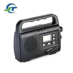 Bande de haute qualité Multh-Wave manivelle solaire portable radio d'affichage numérique