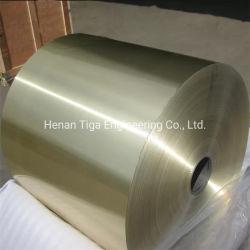 La couleur des feuilles en aluminium brillant acier recouvert de plaques dans les rouleaux de bobines