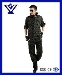 Cool noir 100 % coton de camouflage militaire Uniforme de l'armée (SYSG-242)