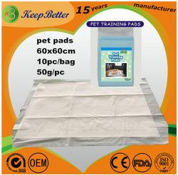 Desechables Underpad antideslizamiento blanco cachorro mascota electrodos de entrenamiento con cintas adhesivas adhesivos para perros y gatos