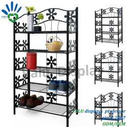 Home decoration Planter Rack Iron Black Display Flower Stand カラム