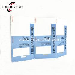 중국 제조 표를 위한 1장 시간 사용 RFID 서류상 카드