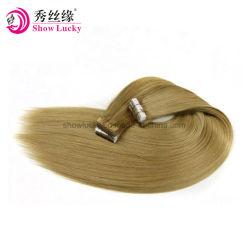 Fashion Color nouvelle arrivée vierge russe de qualité supérieure Remy Cheveux humains de la bande dans les Extensions de cheveux