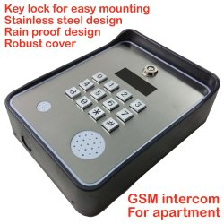 GSM et GSM Intercom Gate et de la porte d'ouvreur Access Controller pour l'appartement