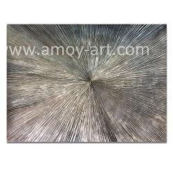 Resumo cinzento prateado moderno artesanais pintura a óleo para a decoração da casa