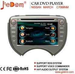 شاشة TFT LCD تعمل باللمس قياس 7 بوصات نظام الملاحة GPS لقرص DVD للسيارة نظام نيسان مارس مع Bluetooth+راديو+iPod+Video