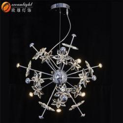 Piezas de cristal lámpara de araña araña de techo bajo el Om66130-4+8+4