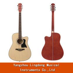 最も安い価格41inchのシナノキの木製の音響の民俗ギター