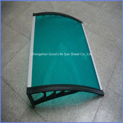 High Quality Waterproof DIY Polycarbonate Plastic Rain Shade for Door