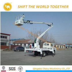 الحد الأقصى لارتفاع العمل شاحنة التشغيل ذات المنصة الجوية 14-16 م الارتفاع العالي للشاحنة
