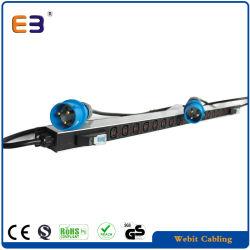 IEC60309 데이터 랙용 플러그가 있는 2 X 8 C13 콘센트 랙 장착 전원 스트립