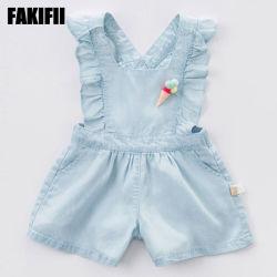 Qualitäts-scherzt die Großhandelsbaby-Abnützung-Kinder, die Sommer-Baumwollspielanzug-Mädchen kleiden, Kleid