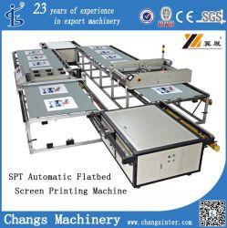 Machine van de Druk van de Serigrafie van de Pantoffel van het Leer van de Hoge snelheid van de Reeks van Spt de Automatische Flatbed