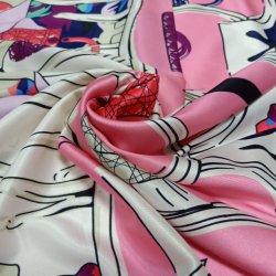 絹の軽くて柔らかいプリント首ヘッド女性のための細い覆いのスカーフ
