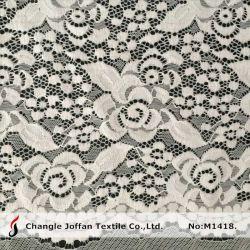 Vestido de encaje Raschel tejido de la moda de Nylon tejido Spandex de encaje elástico (M1418)